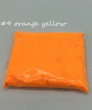 10g #9 Orange Yellow Color Fluorescent Powder phosphor Pigment for soap,make up, Neon powder Nail Art Polish,not glow pwder(China)