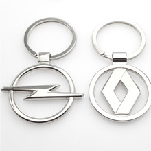 car-styling car logo key case for VW  skoda mazda  Peugeot Renault volvo suzuki opel toyota ford car keyring keychain keyfob