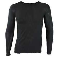 iEFiEL Sexy Mens Long Sleeves Mesh Underwear Cloth Full T-shirt Undershirt Nightwear Tops Tees O-Neck Clothing