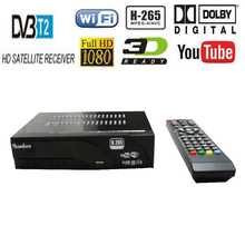 DVB-T2 DVB-T H.265 HEVC Digital HD Satellite TV Receiver Supports Dolby Youtube DVB T2 T MPEG-2 TV Tuner Box With Romote Control(China)