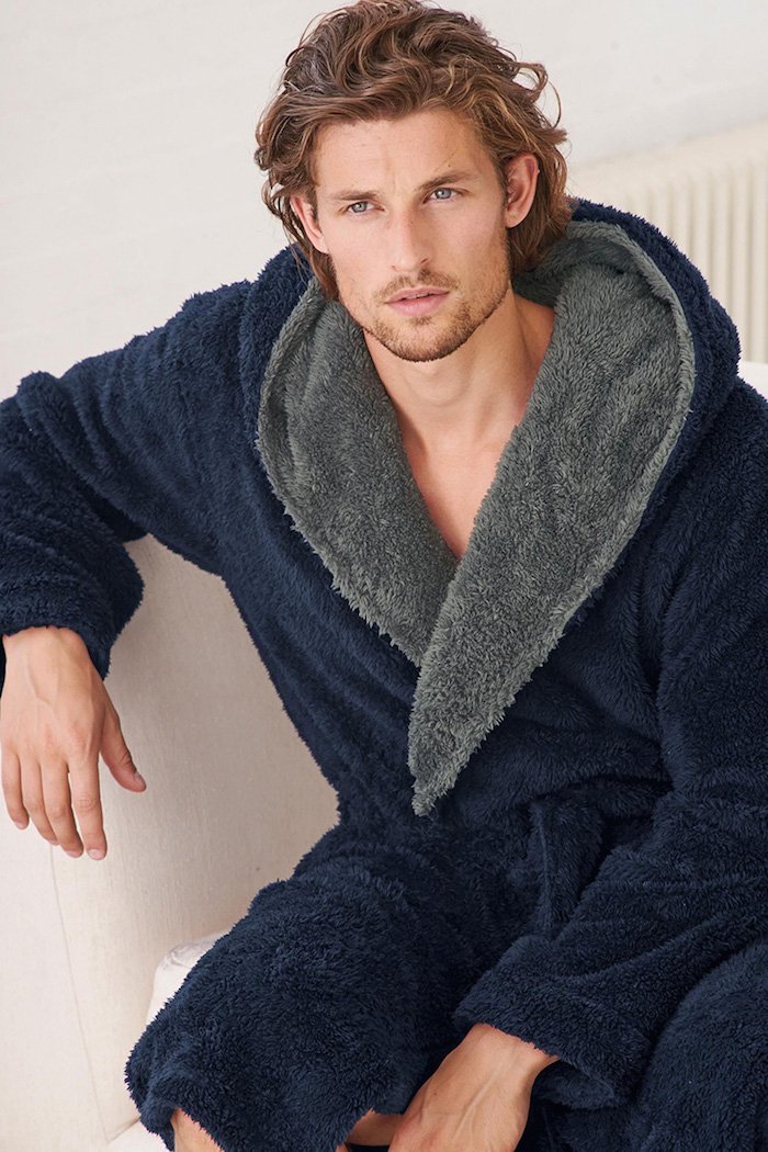 Flannel Robe Male With Hooded Thick Star Wars Dressing Gown Jedi ...