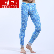 Brand Cockcon Men Long Johns Thermal Underwear Cotton Print Mens Leggings Sexy Bodysuit Men Long Underwear