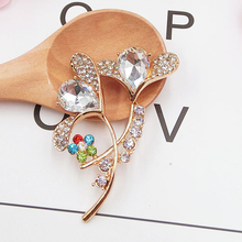 DOWER ME brand 2 Pcs Fashion DIY Decorations Gorgeous flowers Alloy multicolored rhinestone Women's Mobile Phone Stickers(China)