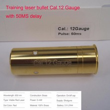 12Gauge(Light Pulse 50MS) Laser Ammo, Laser Training Bullet, Laser Bullet Cartridge for Dry Fire Training & Shooting Simulation(China)