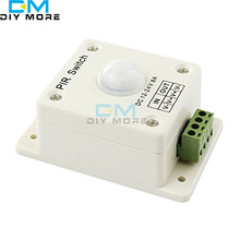 DC12-24V 8A PIR Infrared Motion Sensor Switch Human Body Automatic Induction for LED Lamp Strip Lighting(China)