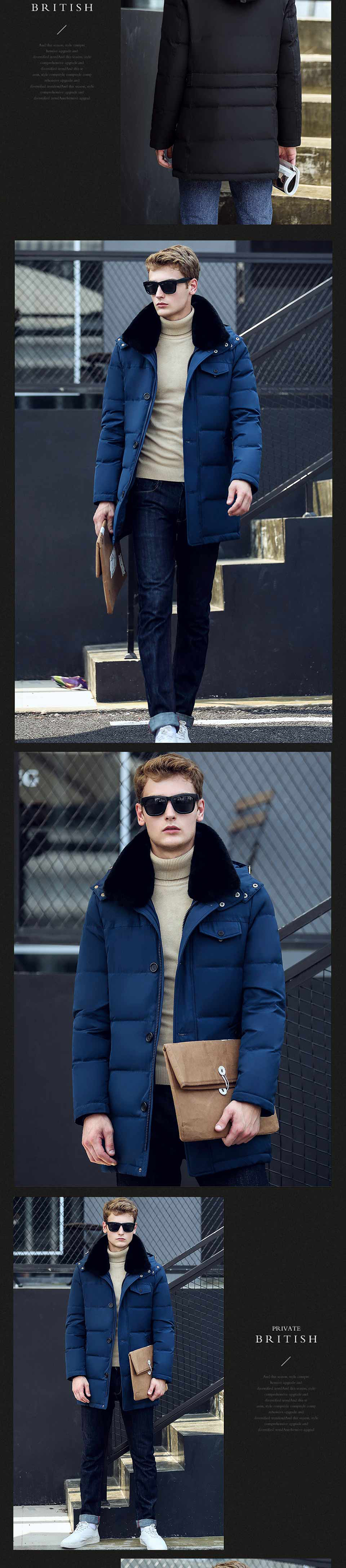 39f513ee84ea 2019 Asesmay 2017 Stylish Winter Jackets Men Goose Feather Coat Men ...