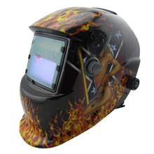 Sexing apperance LI+solar battery supply outside control auto darkening welding helmet/welder goggles/weld mask free shipping(China)