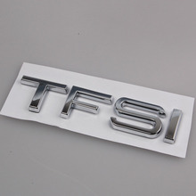 Auto Chrome ABS TFSI Car Decal Sticker Fit For Audi S3 S4 TTS TT A3 A4 A6 BOOT Rear Truck Emblem Badge Car Styling Accessories(China)