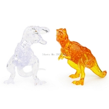 3D Clear Puzzle Jigsaw Assembly Model DIY Tyrannosaurus Intellectual Toy Gift -B116