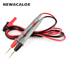 NEWACALOX Needle Tip Probe Test Leads Pin Hot Universal Digital Multimeter Multi Meter Tester Lead Probe Wire Pen Cable 20A