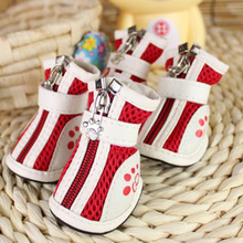 4pcs/set Pet soft hard bottom grid sports shoes Pets Sneaker shoes Boots for dogs dog shoes dog socks pet cachorro mascotas
