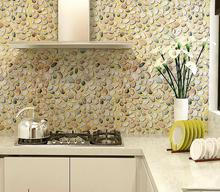 Pvc waterproof  3D wallpaper  wardrobe furniture stickers kitchen cabinet door decor Pastoral stone stickers 45CMX5M