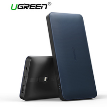 Ugreen 10000mah Power Bank Portable External Battery Powerbank with Charging Cable for Android and IOS Mobile Phones Power Bank(China)