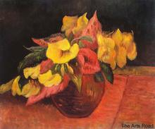 Flower Paintings for Dining Room Evening Primroses in the Vase, 1885 by Paul Gauguin Still Life Fine Arts High Quality