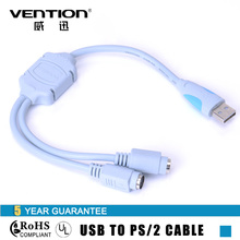 Vention USB Cables PS2 to USB Connect Cable USB 2.0 Male To Standard PS/2 Female Converter Cable Adapter for Keyboard/Mouse(China)