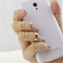 New 6pcs / set Punk Stackable or Midi Ring Sets for Womens Jewelry accessories anillos mujer