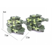 World War II military model rocket / missile launch missile artillery gun Tricycle car model 1pcs/set Free shipping