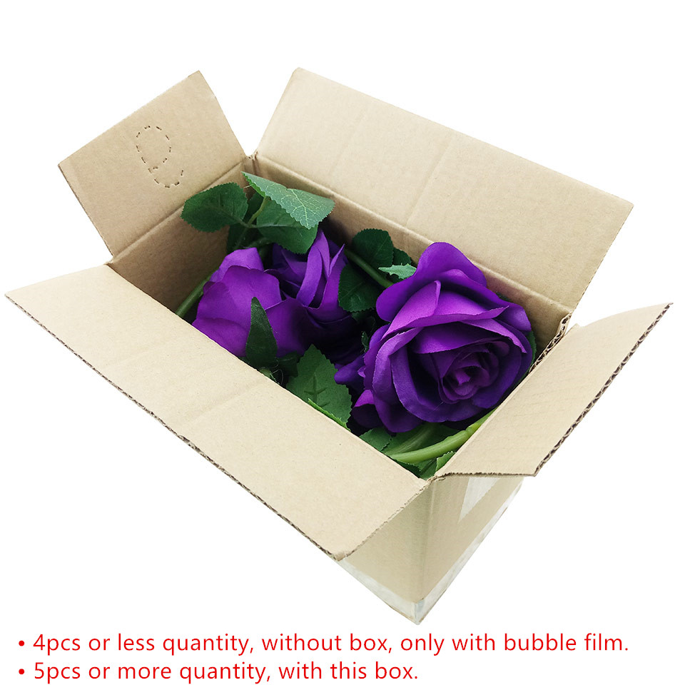 1pc Silk Roses Artificial Flowers Wedding Decoration Fake Flowers White Blue Green Pink Red Purple Artificial Silk Flowers Roses_13