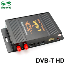 GreenYi Car DVB-T TV Box TV Receiver Dual Tuner High Speed Mpeg4 Car Digital TV Tuner For Car DVD Auto Mobile DVB-T Receiver Kit(China)