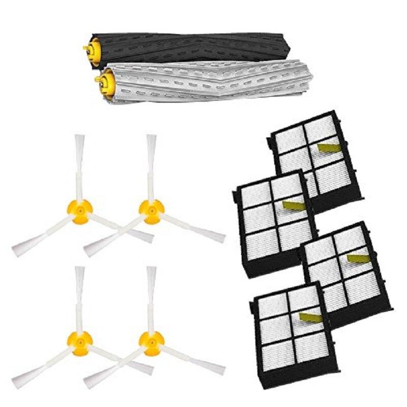 For iRobot Roomba accessories Debris Extractor Brush +4 Hepa filter + 4 side brush for iRobot Roomba 800 900 Series 870 880 980 <br><br>Aliexpress