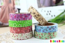 New cute color flower style II Fabric Tape Decoration stationery Tape wholesale