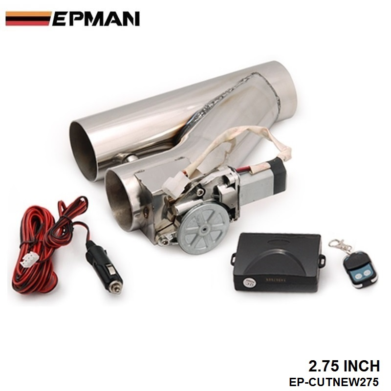 """EPMAN-2.75"""" Exhaust Downpipe Testpipe Catback E Electric Cutout kit Switch Control+Remote For BMW MINI COOPER S JCW EP-CUTNEW275"""