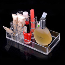 Newest Crystal Clear Makeup Cosmetic Case Organizer Lipstick Jewelry Storage Levert Dropship dig637(China)