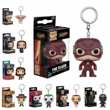 DC Movie Woder Woman Funko POP The Flash Pocket Keychain Key Ring Hanger Harry Potter Dobby Vodemort Snape Rick of Walking Dead