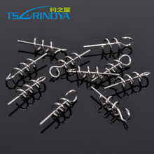 Trulinoya Spring Lock accessory for Soft lures,fishing tool,40pcs/lot(4packs),Free shipping