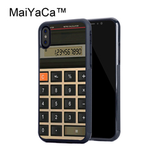 MaiYaCa Funny Math Calculator Soft TPU Black Back Cover Case For Apple iPhone X Cases For iPhone X Phone Case Capa