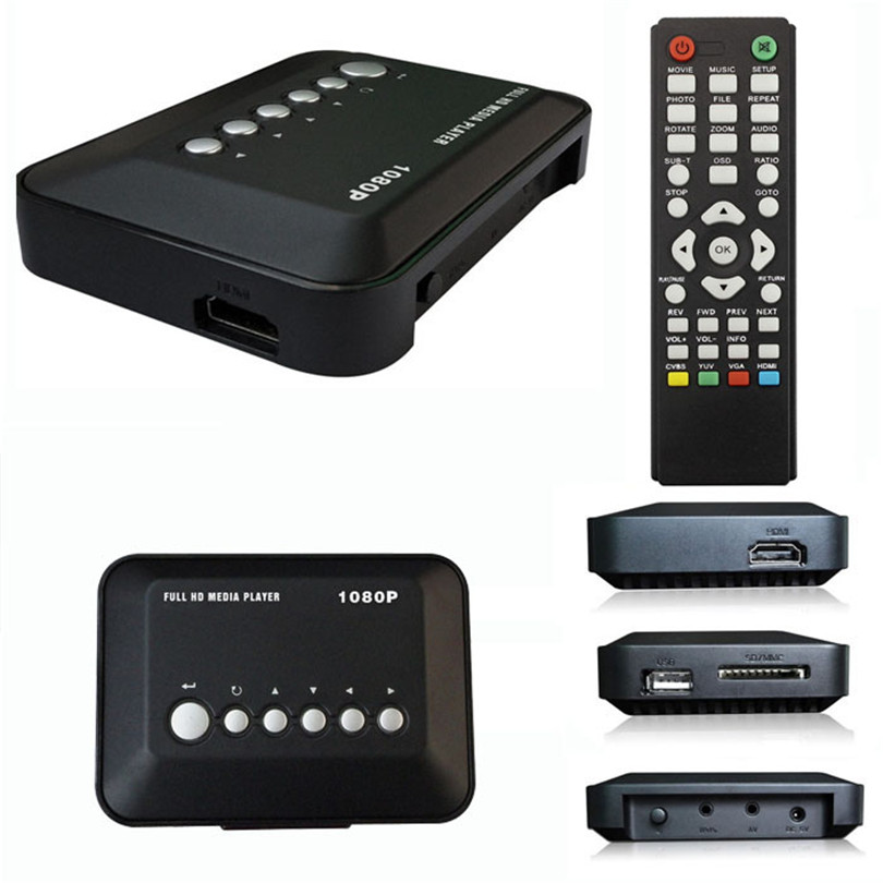 Good Application HD 1080P USB Hard Drive Upscaling Multi Media Player MKV AVI RMVB Adapter US Plug New Sep24<br>