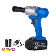 1/2'' rechargeable battery 58V 0-2800RPM 110-220V Cordless Electric Impact Wrench Screwdriver Mini Impact Wrench drill chuck bit