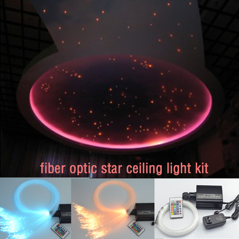 Coloful LED fiber optic star ceiling light kit 0.75mm fiber optic cable end glow 16w RGBW light illuminators Decoration light<br><br>Aliexpress