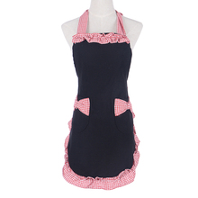 Retro antifouling Cute Cotton Kitchen Aprons for Women Girls Cooking work Apron Pinafore Tablier Dress Vintage(China)