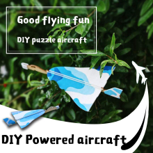 Children DIY kite, power glider, painting teaching material model, assembled foam model toys(China)