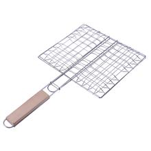 Vanzlife outdoor barbecue net supporting tools stainless steel clip fish barbecue net rack