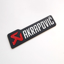 BBQ@FUKA AKRAPOVIC Sticker 3D Metal Decal Emblem Badge Fit For Motorcycle & Car Styling