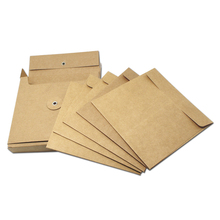 15pcs Blank Brown Kraft Paper CD Packaging Set Box with 5 Envelope Sleeves for Gift Storage Dustproof Vintage 13x13x2.5cm(China)