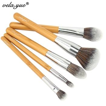 Vela. юэ Makeup Brush Set Премиум Лица Глаз Кисти Коллекции экологичный бамбук Красота Инструменты