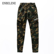 2017 Two Versions Spring boys Camouflage Pants Winter Children Fleece Lining Cotton Uniform Kids Military Army Trousers FH259(China)