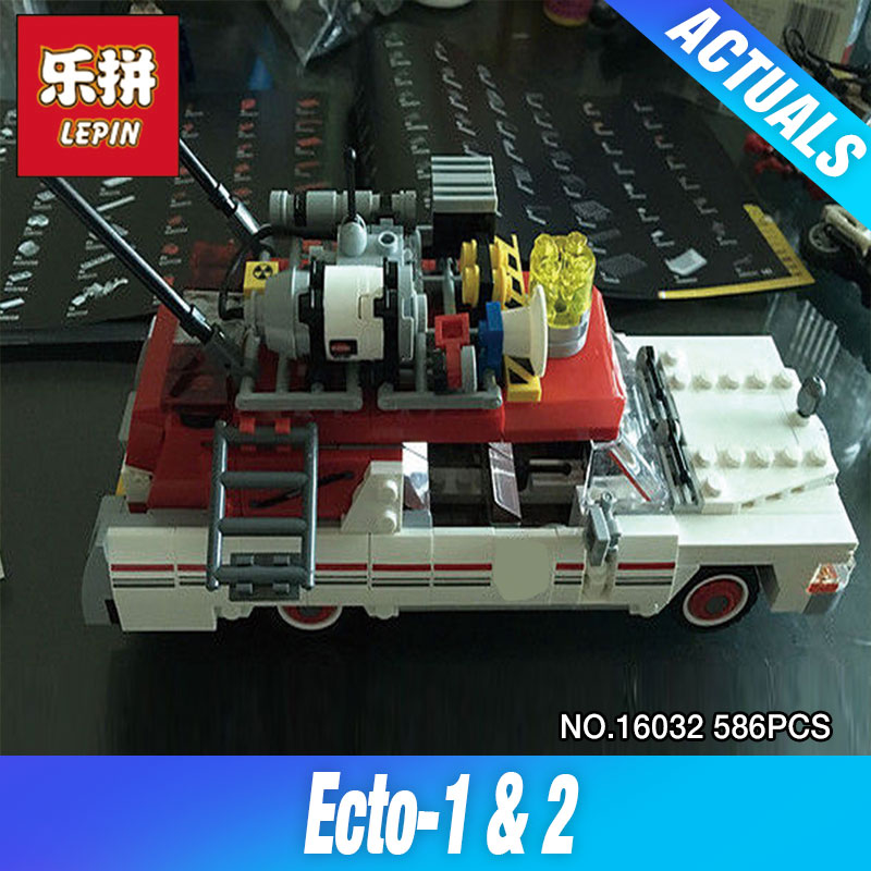 Lepin 16032 586Pcs New Genuine Movie Series The Ghostbusters Ecto-1&amp;2 Set Children Educational Building Blocks Bricks Toys 75828<br>