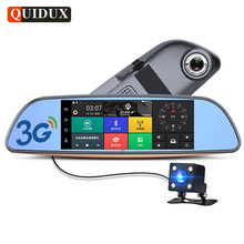 "QUIDUX 7"" 3G Android Car rearview mirror DVR GPS Navigation full hd 1080P video Camera recorder WiFi Bluetooth Car detector(China)"
