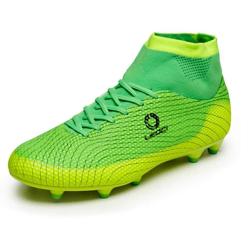 e88e73d8 Новый Футбол сапоги Для мужчин футбол обувь для мальчиков детские  футбольные бутсы FG высокие ботильоны Обувь