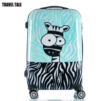 "TRAVEL TALE 20""24""inch fashion Zebra printing suitcase cute rolling luggage kids travel trolley bag"