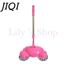 JIQI handpush wireless sweeper household hand drag Floor Cleaning robot rotating sweeping cleaner Aspirator dust catcher tools(China)