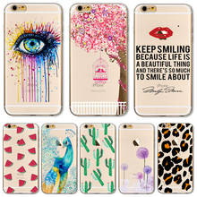 TPU Cover For Apple iPhone 5 5S SE 6 6S 6Plus 6S+ 7 Cases Phone Shell Colour Balloon Flowers Artistic Eyes Cactus Best Choice