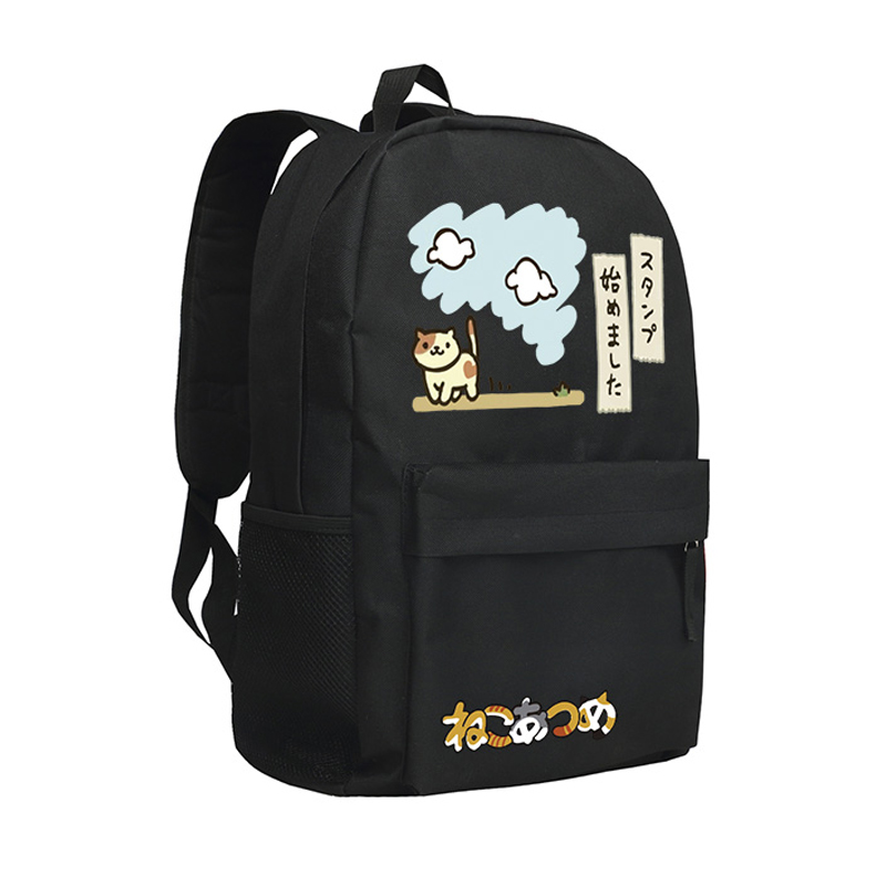 Children Backpack Neko Atsume Girls School Bags Kitty Backpacks Cartoons Shoulder Bag Mochila Son Birthday Gifts Cute Bookbags<br>