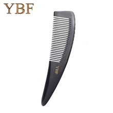 YBF Dense Tooth Comb Boutique Black Buffalo Horn Hair Combs Health Makeup Professional Salon Head Massage Hairdressing Brush(China)