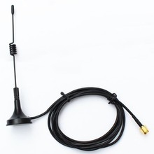 1PC 433Mhz Antenna 3dBi With SMA Male Connector Omni Magnetic Base Antenna RG174 cable 3M for radio