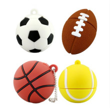 USB 3.0 cartoon football basketball tennis usb flash drive  sports ball pendrive storage device Pen drive 4g 8g 16g 32g U disk